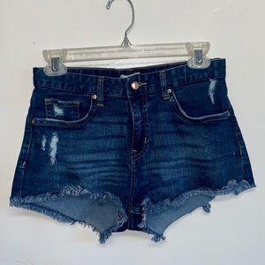 H&M Mid Rise Denim Shorts
